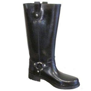 Michael Kors Tall Black Rubber Rainboots 8M